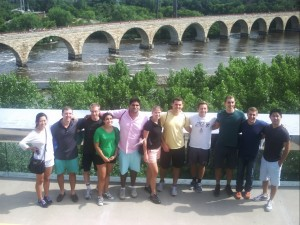 Team by Stone Arch Bridge, Minneapolis