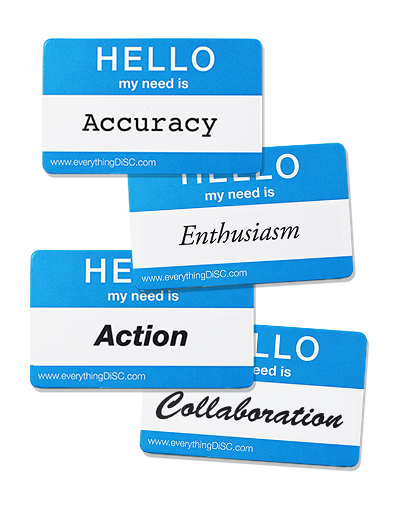 Needs tags: Accuracy, enthusiasm, action, collaboration